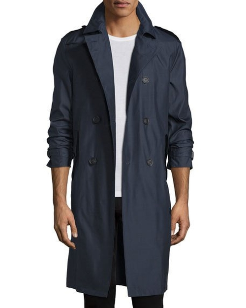 Wool-Blend Double-Breasted Trenchcoat by Burberry Prorsum in The Purge: Election Year