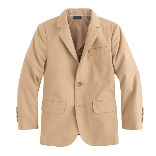 Boys' Italian Chino Ludlow Suit Jacket by J.Crew in Black-ish