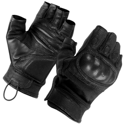 Black Nomex Tactical Half Finger Hard Knuckle Gloves by SecPro in Edge of Tomorrow