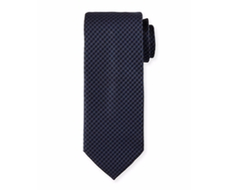 Woven Mini-Houndstooth Silk Tie by Brioni in Suits