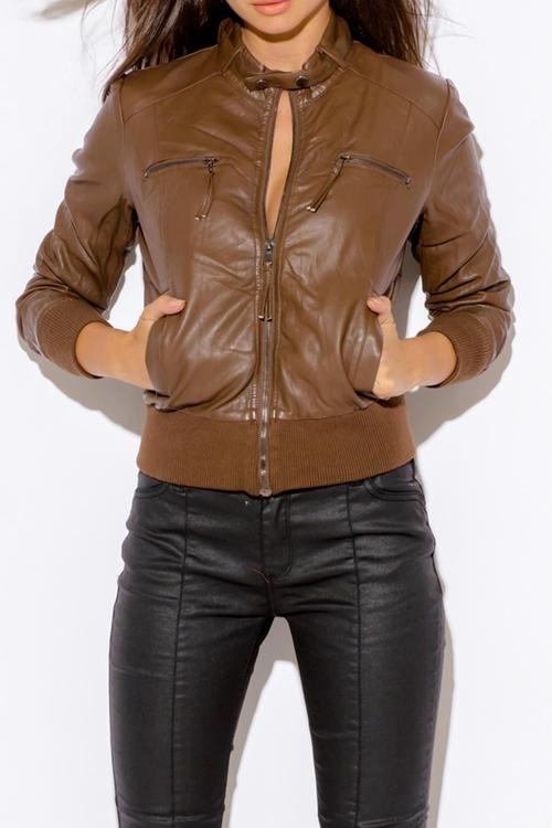 Vegan Leather Jacket by OC Avenue in Deepwater Horizon