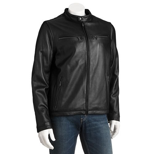 Leather Motorcycle Racer Jacket by Dockers in Fast & Furious 6