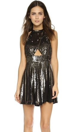 Sequin Stripe Mini Dress by Free People in Nashville