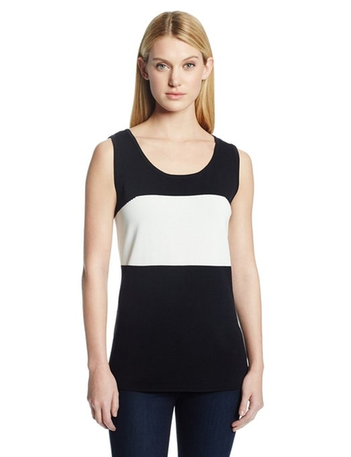 Color-Block Tank Top by Calvin Klein in Rock The Kasbah