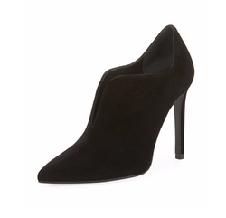 Rhythm Split Suede High Booties by Stuart Weitzman in The Good Fight
