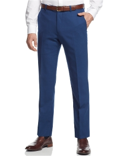 Cobalt Solid Slim-Fit Pants by Bar III in Dope