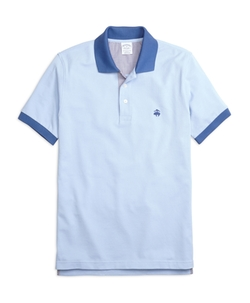 Slim Fit Contrast Collar Polo Shirt by Brooks Brothers in Scott Pilgrim Vs. The World