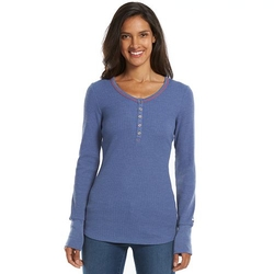 Waffle Thermal Henley Top by Columbia Weekday in Quantico