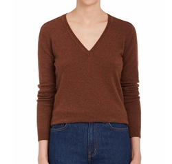 Cashmere V-Neck Sweater by Barneys New York in House of Cards