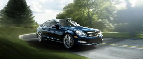 C-Class Sedan by Mercedes-Benz in A Walk Among The Tombstones