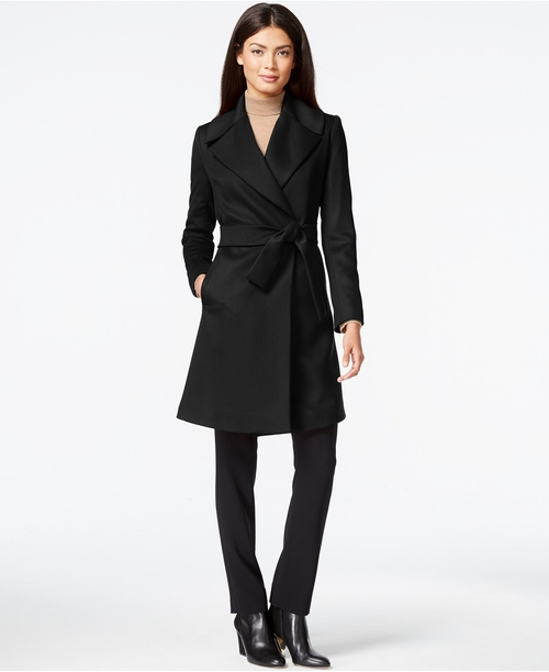 Asymmetrical Pleated Peacoat by Trina Turk in How To Get Away With Murder - Season 2 Episode 11