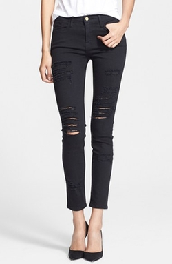 'Le Color Rip' Skinny Jeans by Frame Denim in Keeping Up With The Kardashians