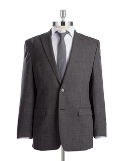 Slim Fit Wool Blazer by Calvin Klein in Elementary