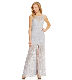 Embellished Sleeveless Lace Gown by B. Darlin in Master of None