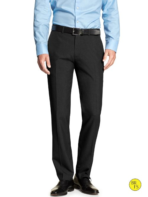 Factory Tailored Black Trousers by Banana Republic in (500) Days of Summer