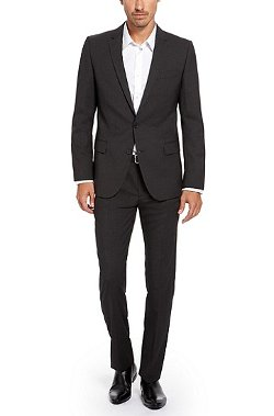 'Amaro/Heise' Slim Fit, Stretch Virgin Wool Suit by Hugo Boss in Crazy, Stupid, Love.