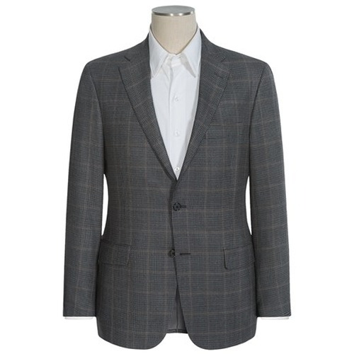Houndstooth Windowpane Overlay Sport Coat by Hickey Freeman in Demolition
