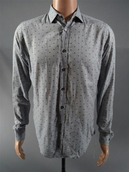 Printed Button Down Shirt by Zara Man in If I Stay