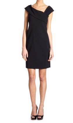 Asymmetrical Neckline Dress by Teri Jon by Rickie Freeman in Billions