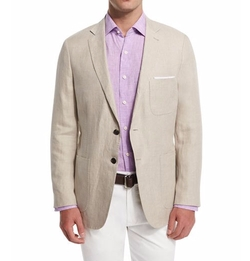 Two-Button Linen Soft Coat by Peter Millar in Master of None