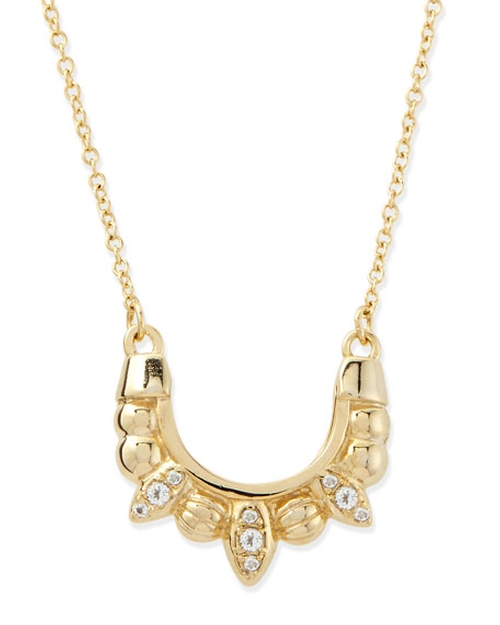 Gold-Plated Mini Tribal Spike Necklace by Pamela Love in Billions - Season 1 Episode 1