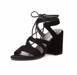 Bigtiegirl Suede Lace-Up Sandals by Stuart Weitzman in Keeping Up With The Kardashians