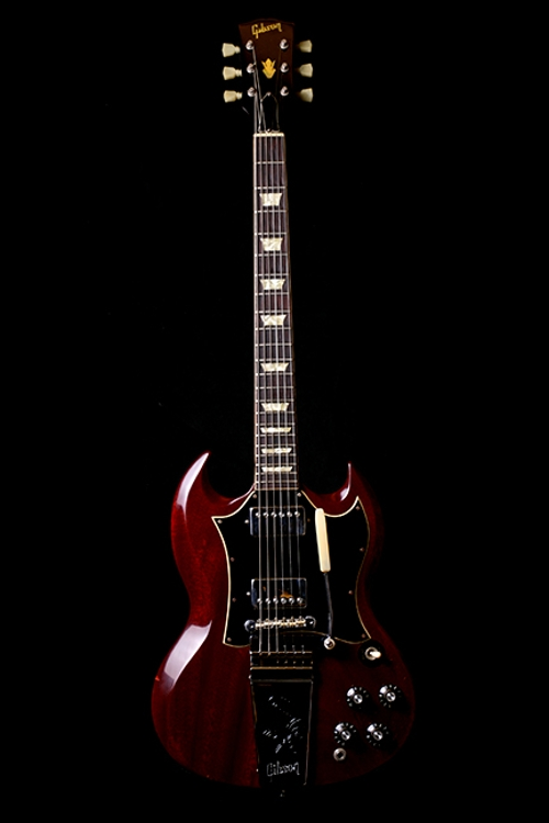 1969 SG Standard Cherry Maestro Electric Guitar by Gibson in Ricki and the Flash