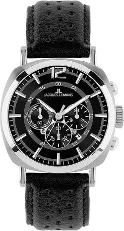 Men's Lugano Sport Analog Chronograph Watch by Jacques Lemans in Sabotage