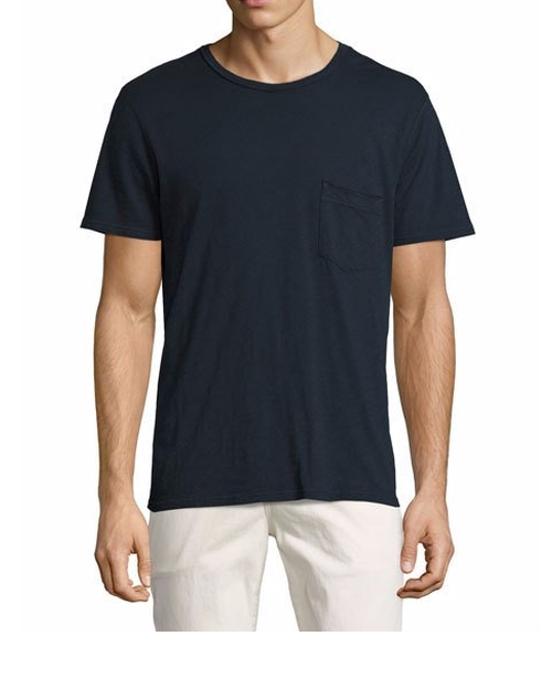 Raw-Pocket Crewneck T-Shirt by 7 For All Mankind in Animal Kingdom