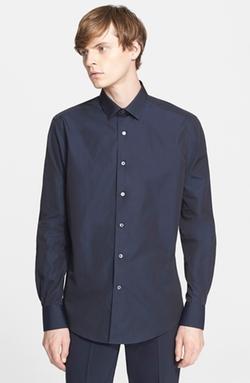 Trim Fit Cotton Poplin Shirt by Lanvin in Suits