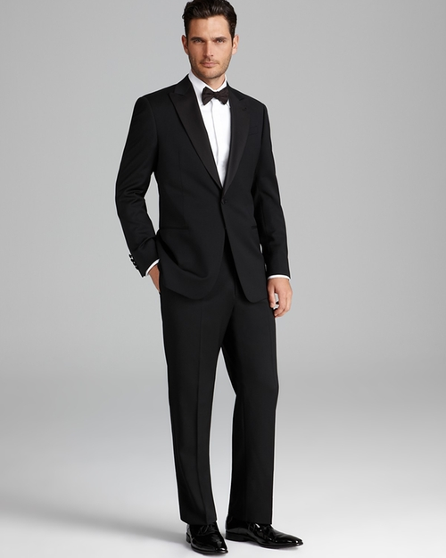 iorgio Peak Lapel Tuxedo Suit by Armani Collezioni in Youth