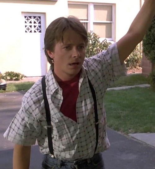 Checkered Shirt by Shah Safari in Back To The Future Part II