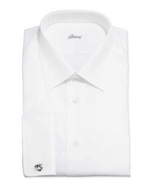 French-Cuff Shadow Stripe Dress Shirt by Brioni in Atonement