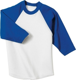 Youth Colorblock Raglan Jersey Shirt by Sport-Tek in Before I Wake