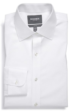 Wrinkle Free Solid Dress Shirt by Bonobos in Mamma Mia!
