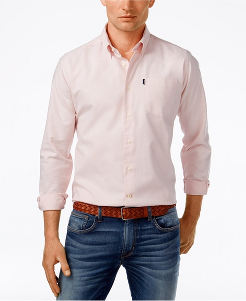 Men's Stanley Solid Oxford Long-Sleeve Shirt by Barbour in The Bachelorette - Season 12 Episode 8