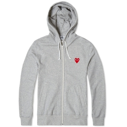 Full Zip Hoody Jacket by Comme Des Garcons Play in Ballers