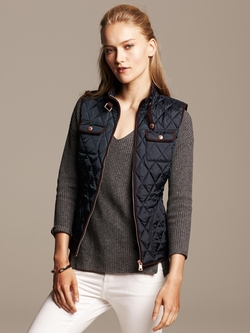 Quilted Vest by Banana Republic in Captain America: Civil War