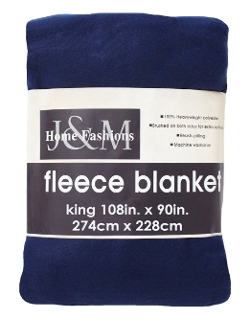 Fleece King Blanket by J & M Home Fashions in Before I Wake