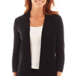 Sleeve Shawl-Collar Cardigan Sweater by Liz Claiborne in Max
