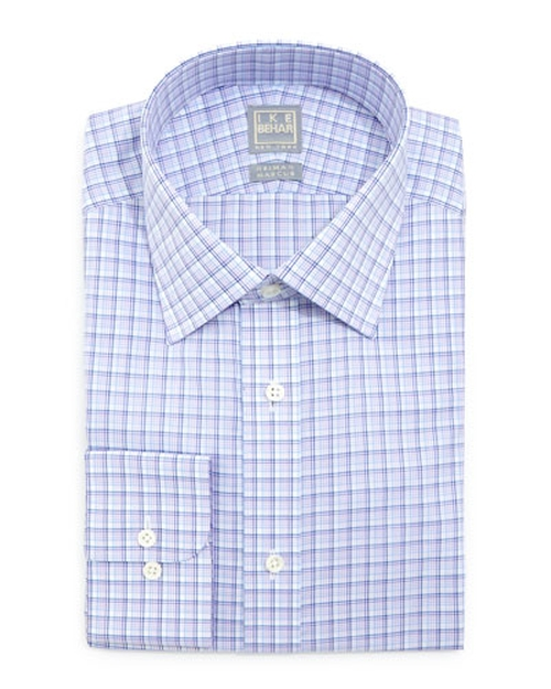Multi-Check Dress Shirt by Ike Behar in Our Brand Is Crisis
