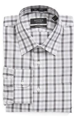 Smartcare Wrinkle Free Traditional Fit Plaid Dress Shirt by Nordstrom in The Hundred-Foot Journey