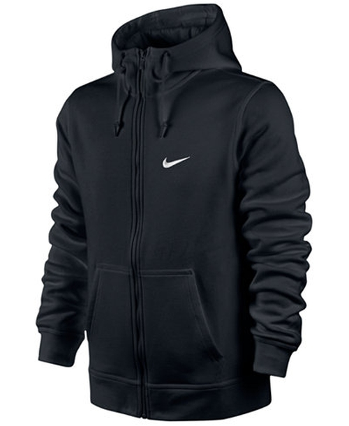 Men's Classic Fleece Full-Zip Hoodie by Nike  in Creed
