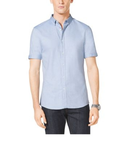 Short-Sleeved Cotton Oxford Shirt by Michael Kors in Love & Mercy