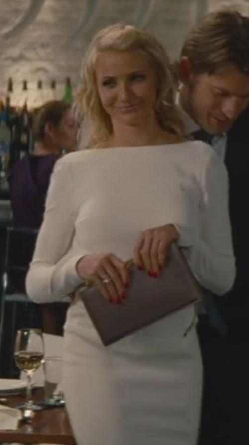 Zip Detail White Pencil Dress by Tom Ford in The Other Woman