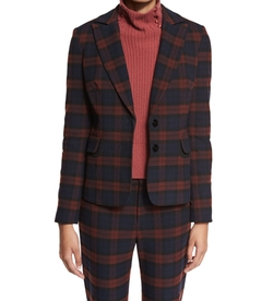 Plaid Two-Button Blazer by 10 Crosby Derek Lam in Designated Survivor