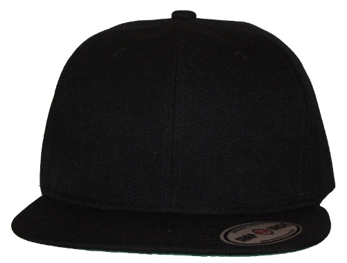 Plain Solid Flat Bill Snapback Cap by Altis Apparel in Dope