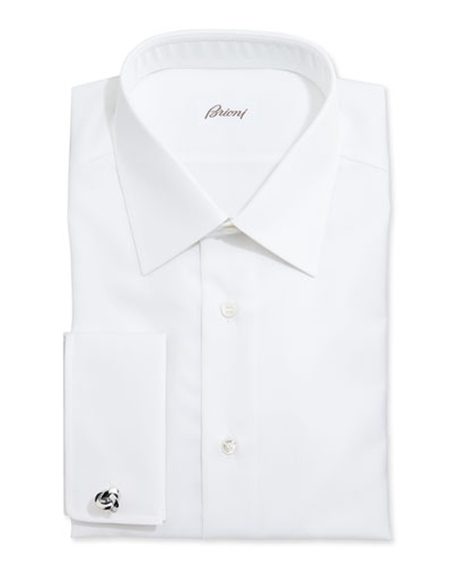 White-On-White Stripe Dress Shirt by Brioni	 in The Boy