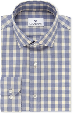 Men's Slim-Fit Non-Iron Check Dress Shirt by Ryan Seacrest Distinction in Joshy