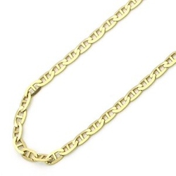 Italian Flat Mariner Link Chain Necklaces by Double Accent in Ballers